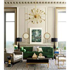 Casa Art Deco, Arte Art Deco, Estilo Art Deco, Art Deco Living Room, Living Room Green, Interior Design Living Room, Living Room Designs, Living Rooms, Interior Livingroom