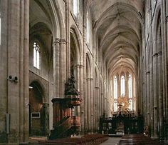 The Basilica of Mary Magdalene in Saint-Maximin-la-Sainte-Baume is a ...