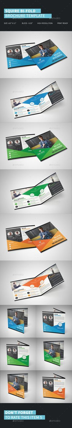 Squire Bi-Fold Brochure Template Vector EPS, AI Illustrator