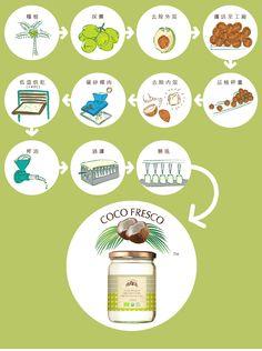 初榨冷萃有機椰子油製作流程