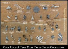 Once Upon A Time Fairy Tales OUAT Themed Pewter Charm Collection EXTENSIVE on Etsy, $13.00