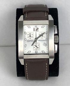 Esprit Silver Ledge Chronograph Herrenuhr ID: - AV-Pfandhaus Shop Square Watch, Chronograph, Michael Kors, Silver, Gold, Accessories, Shopping, Stainless Steel, Wristlets