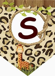 Banderines Safari. Safari Flags. Jungle Theme Cakes, Safari Theme Birthday, Safari Party, Birthday Party Themes, Boho Baby Shower, Baby Shower Themes, November Baby, Banner Letters, Monogram Alphabet