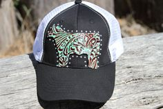 Womens Trucker Show Steer Hat by TurnerToppers on Etsy Cowgirl Hats, Western Hats, Western Wear, Showing Cattle, Showing Livestock, Show Cows, Show Steers, Painted Hats, Ffa