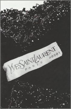 Yves Saint Laurent's first dress, 1961.