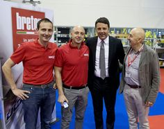 Breton staff with Matteo Renzi (Italian premier)