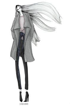 ISSA GRIMM: fashion illustration  issagrimm.com #fashionillustration #fashiondesign #drawfashion