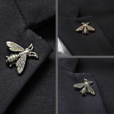 2016 matt Bee nút kim loại chống vàng bạc brooch Trang Phục Áo Len Trâm Cài pin Accessorries đồ trang sức broches bovvsky Thời Trang