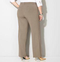 Avenue Women's Classic No Gap Pants 24 W Wide Average Casual Pants NEW #Avenue #CasualPants
