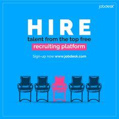 Hire talent from the top global recruiting platform. 👉 Sign up: www.jobdesk.com (FREE)  #jobdeskcom #jobdesk #gobalrecruitingplatform Find People, Find A Job, Top Free, Language, Platform, Sign, Wedge, Speech And Language, Signs