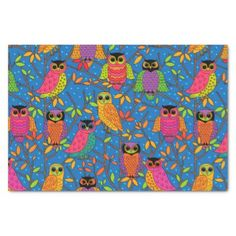 #October Owls Tissue Paper - #Halloween happy halloween #festival #party #holiday