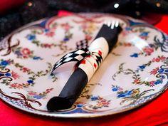 Alice in Wonderland Playing Card Napkin Holders