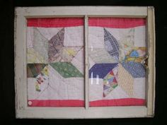 old quilt crafts | quilt in an old window | Crafts