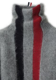 Shop Fashion on La Garconne, an online fashion retailer specializing in the elegantly understated. Knit Fashion, Sweater Fashion, Knitting Projects, Knitting Patterns, Striped Turtleneck, Thom Browne, Cable Knitting, Knit Crochet, Sewing