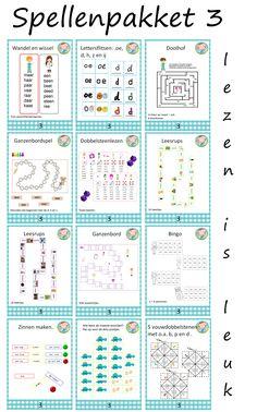 Aantrekkelijkpakket om spelenderwijs te leren lezen. Goed te gebruiken bij kern 3 van VLL. 12 spelletjes.
