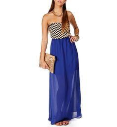 Royal Chevron Maxi Dress Chevron Dress beautiful #topdress #emma875 #dresses #chevron #ChevronDress  www.2dayslook.com