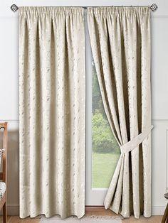 Roma Vanilla Ready Made Curtains from Curtains2go