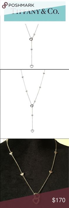 "Elsa Peretti Open Heart Lariat Necklace Authentic Sterling Silver Tiffany & Co Elsa Peretti Open Heart Lariat Necklace in EUC. Dust bag is included. Necklace can be worn a number of different ways. Necklace measures 18"". Tiffany & Co. Jewelry Necklaces"