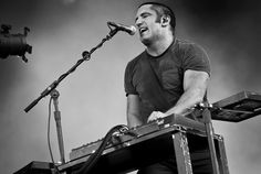 Trent Reznor of Nine Inch Nails performs in Knebworth, United Kingdom.
