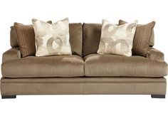 picture of Cindy Crawford Home Essex Street Granite Apartment Sofa from  Furniture