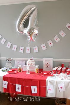 Doctor and nurse party set up