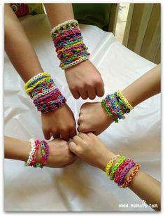 Rainbow Loom Birthday Party bracelets Rainbow Loom Birthday Party!