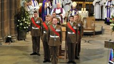Lincoln soldiers who took part in the King's reinterment to act as step-liners, were also entrusted with lowering the coffin into a specially designed tomb at Leicester Cathedral.