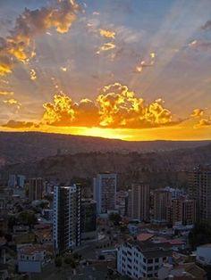 Atardecer en La Paz, Bolivia
