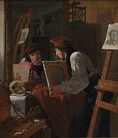 Un joven artista (Ditlev Blunck) observa un boceto en un espejo (en idioma danés: En ung kunstner (Ditlev Blunck) betragter en skitse i et spejl) es una pintura al óleo realizada en 1826 por el pintor Wilhelm Bendz. Pertenece a la serie de retratos de artistas de la Edad de Oro danesa.1 Se encuentra depositado en la Galería Nacional de Dinamarca.  Índice  [mostrar]  Génesis[editar] La pintura fue realizada en 1826 en un momento en que Wilhelm Bendz estaba involucrado en el nuevo papel de los…
