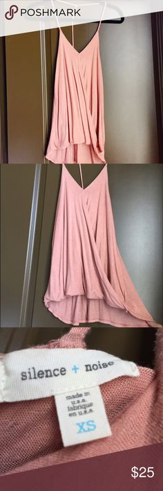 Urban Outfitters Flowy Tank Cute coral/peach flowy tank from Silence & Noise. Wraps in front/peephole cut. Low cut back. Super cute with a bralette. NEW CONDITION- worn once or twice but was too big. Urban Outfitters Tops