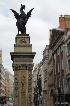 A dragon statue marks the old boundary between the cities of London and Westminster.