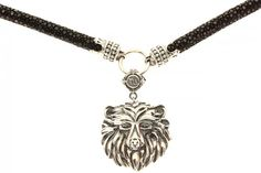 https://www.cityblis.com/4345/item/12501  BEAR - NECKLACE - $749 by ARSLEV JEWELRY  NOBLE BY BENDTNER  Oxidized Solid Sterling Silver  2 Black Diamonds of 0.03 CT  Stingray Skin  Size:  33.4 in ~ 85 cm