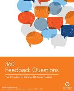 Your employees want candid, valuable performance feedback from the people they work with every day. That's why we've provided an ebook with a bank of 360 feedback questions to ask for more meaningful and more accurate employee feedback.