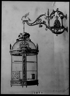 Ornamental bird cage. Edward F Caldwell & Co. (est. 1895), the firm combined new technology with traditional ornamental metalwork.