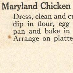 Maryland Chicken 1915
