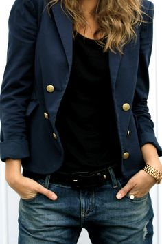 Really wanting a navy blazer for fall it never gets cold enough for a jacket