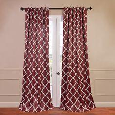 Trellise Blackout Single Curtain Panel