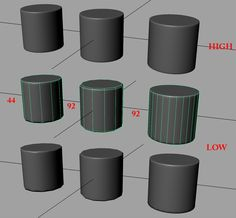 Cylindrical shapes normal map baking, newbie problems