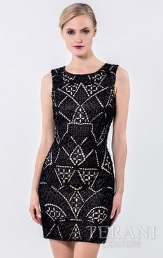 Fitted sleeveless cocktail dress that is detailed with all over beading at the front and back Terani Cocktail - Prom Dresses 2016, Dressy Dresses, Evening Dresses, Short Dresses, Terani Couture, Short Cocktail Dress, Mother Of The Bride, Party Dress, Fashion Design