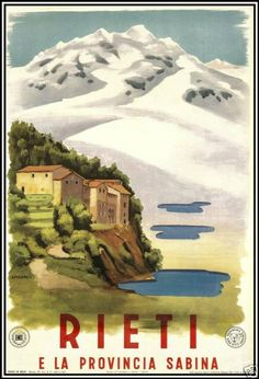Vintage Rieti Italy Travel Poster