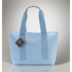 c58aa76aac16 Ralph Lauren Polo Light Blue Canvas Big Pony Handbags  46.20
