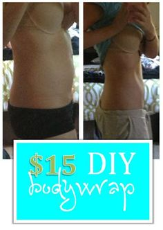 DIY at home body wrap - just 3 supplies needed