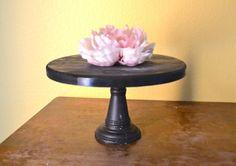 Black Cupcake Stand / Cake Stand 10 inch