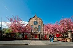 Canongate Kirk of Holyroodhouse - Edinburgh, Scotland. This is on the Royal Mile. Zara Phillips got married here.