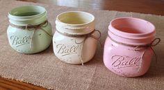 Three 3 Piece Mason Jar Set  Vintage Inspired  by HopeandFrank