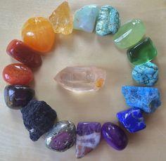Custom Chakra Gemstone & Crystal Set - For alignment, energy work, reiki practitioners by TheSageGoddess on Etsy
