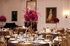 Love these gorgeous table centrepiece arrangements.  Stunning colours!