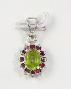 High Quality Silver Necklace Pendant Paridot 925 Sterling Silver plated Jewelry