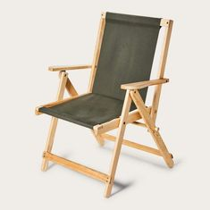 Discover the Filson Highlands Deck Chair. Our Highlands Deck Chair is made with dense kiln-dried hardwood and outfitted with Filson's signature Rugged Twill on the seat and back. Wooden Folding Chairs, Folding Beach Chair, Metal Chairs, Cool Chairs, Wooden Beach Chairs, Lawn Chairs, Outdoor Chairs, Outdoor Furniture, Dining Chairs