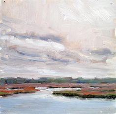 """Cloudy Day on the Marsh"" - Original Fine Art for Sale - © Deborah Newman"